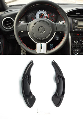 Pinalloy Black Alloy Steering Wheel Paddle Shifter Extension for GT86 FRS BRZ