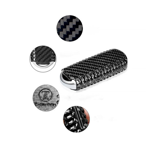 Pinalloy Carbon Fiber Keyless Smart Key Cover Case Fob Shell for Mazda 3 6 MX5