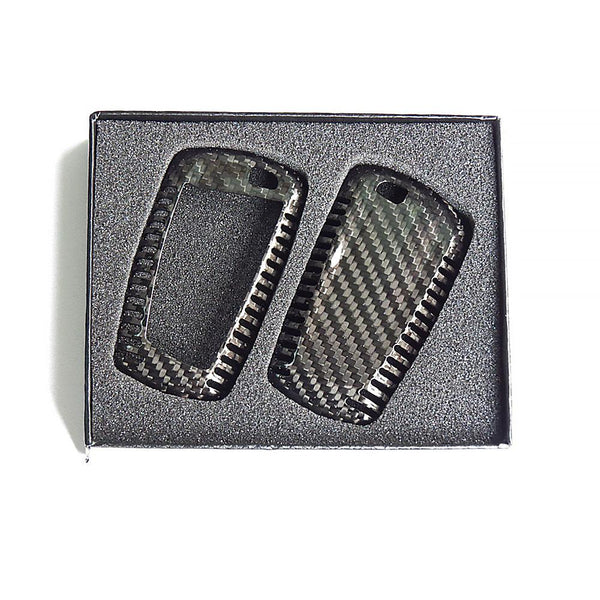 Deluxe Real Carbon Fiber Remote Key Cover Case Shell for BMW 1 3 5 7