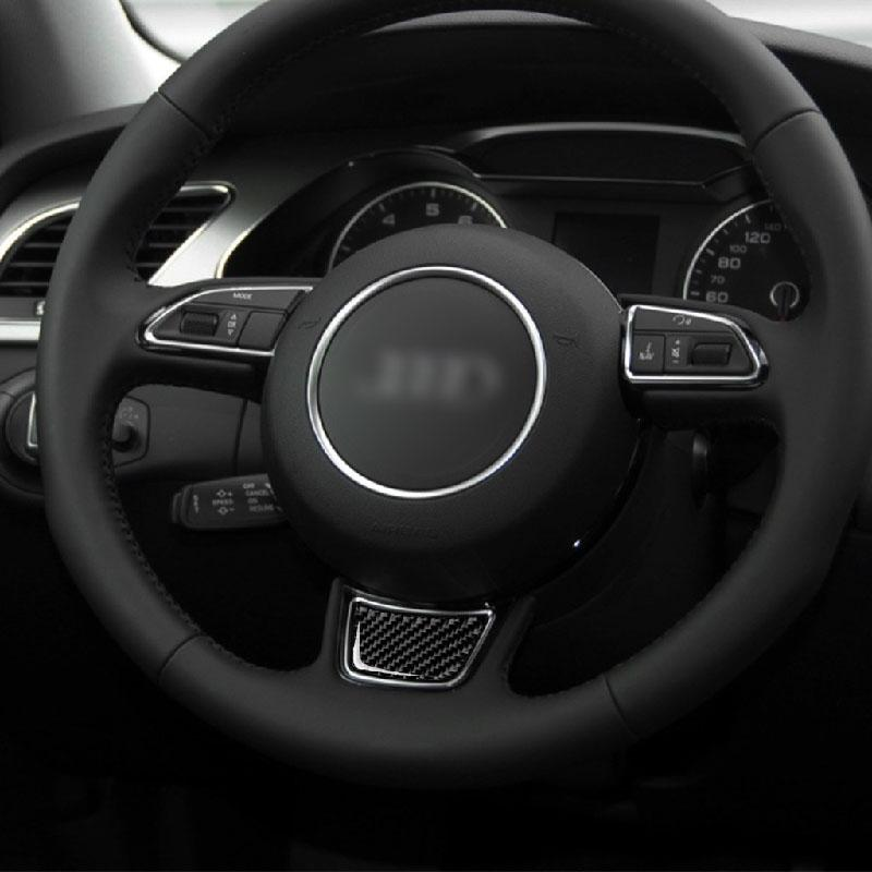 Pinalloy Carbon Fiber Steering Wheel Decorative Stickers Accessories for Audi A3 S3 (2014-2019) - Pinalloy Online Auto Accessories Lightweight Car Kit