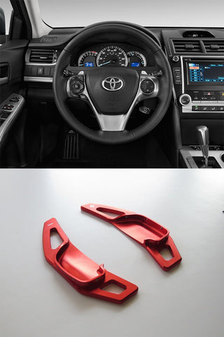Pinalloy Red Alloy Steering Wheel Extension Paddle Shift Extension for Toyota Corolla Camry 2010 - 2015 - Pinalloy Online Auto Accessories Lightweight Car Kit