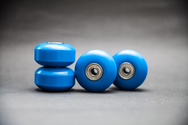 (Set of 4) 52mm 100A PU Blue Skateboard Wheels Cruiser Rollen (608ZZ ABEC 7 & Spacers) - Pinalloy Online Auto Accessories Lightweight Car Kit
