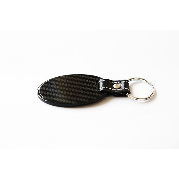 Pinalloy Real Carbon Fiber Key Chain Key Fob with Stitched Leather (Style C) - Pinalloy Online Auto Accessories Lightweight Car Kit