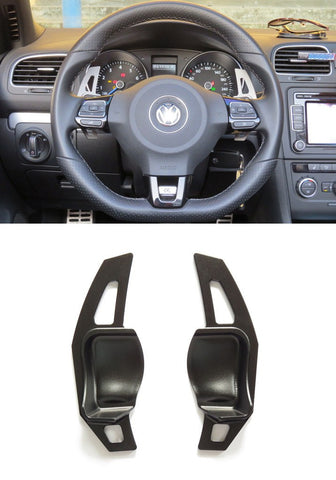 Matted Black Alloy DSG Paddle Shifter Extension Steering Wheel VW Golf Scirocco MK5 6 / SEAT Leon - Pinalloy Online Auto Accessories Lightweight Car Kit