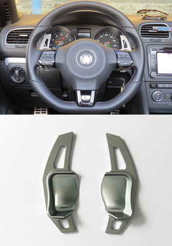 Matted Gery Alloy DSG Paddle Shifter Extension Steering Wheel VW Golf Scirocco MK5 6 / SEAT Leon - Pinalloy Online Auto Accessories Lightweight Car Kit