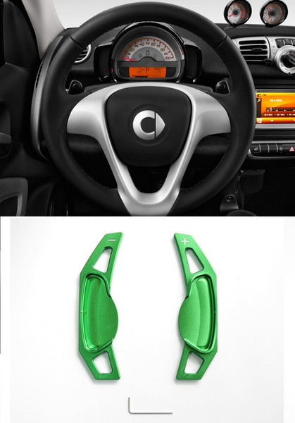 Matted Green Alloy Steering Wheel Paddle Shifter Extension for Mercedes Benz Smart CP0017-GN - Pinalloy Online Auto Accessories Lightweight Car Kit