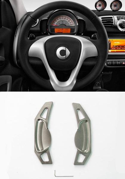 Matted Grey Alloy Steering Wheel Paddle Shifter Extension for Mercedes Benz Smart CP0017-GY