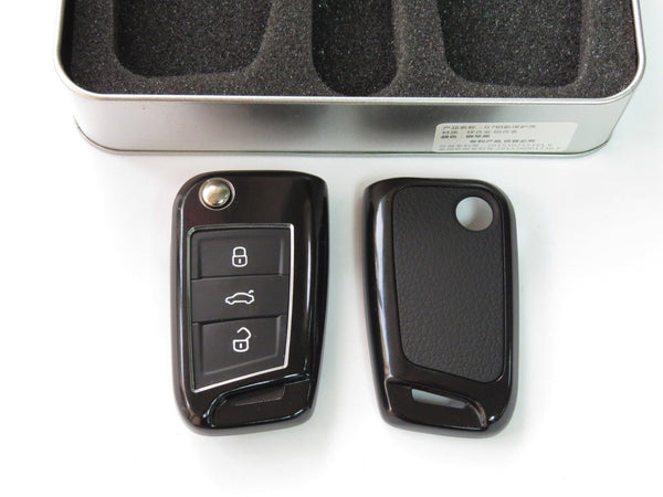 Deluxe Metal Remote Auto Key Cover Key Fob Case Light Skin Shell for VW Volkswagen Golf MK 7