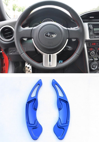 Pinalloy Blue Alloy Steering Wheel Paddle Shifter Extension for GT86 FRS BRZ - Ver2 - Pinalloy Online Auto Accessories Lightweight Car Kit