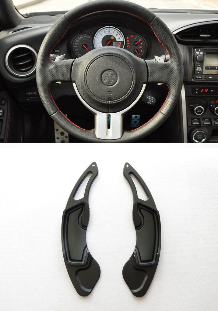 Pinalloy Black Alloy Steering Wheel Paddle Shifter Extension for GT86 FRS BRZ - Ver2 - Pinalloy