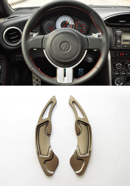 Pinalloy Grey Alloy Steering Wheel Paddle Shifter Extension for GT86 FRS BRZ - Ver2 - Pinalloy