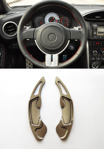 Pinalloy Grey Alloy Steering Wheel Paddle Shifter Extension for GT86 FRS BRZ - Ver2