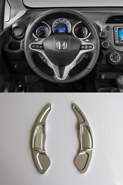 Pinalloy Silver Metal Steering Paddle Shifter Extension Fit Honda Jazz Civic CRV - Pinalloy Online Auto Accessories Lightweight Car Kit