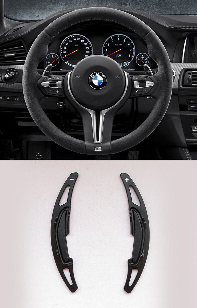 Pinalloy Black Alloy Steering Wheel Paddle Shifter Extension For BMW M3 M4 M5 M6 - Pinalloy Online Auto Accessories Lightweight Car Kit