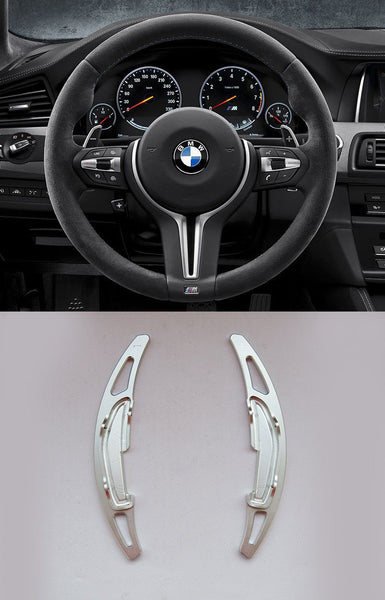 Pinalloy Silver Alloy Steering Wheel Paddle Shifter Extension For BMW M3 M4 M5 M6 - Pinalloy Online Auto Accessories Lightweight Car Kit