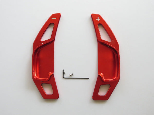 Pinalloy Red Alloy Steering Wheel Extension Paddle Shift Extension for Toyota Corolla Camry 2010 - 2015