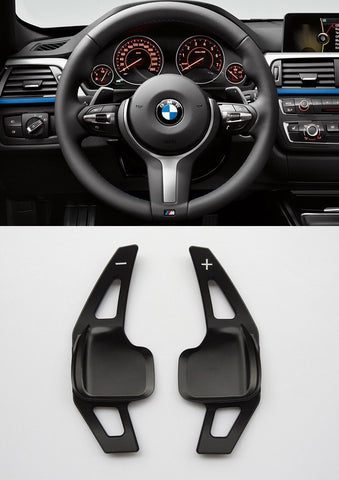 Pinalloy Black Metal Steering Wheel Paddle Shifter Extension for BMW F10 (5 series) / F30 (3 series) - Pinalloy Online Auto Accessories Lightweight Car Kit