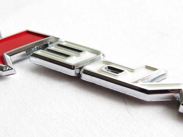 "New Red & Silver ""TYPE-R"" Chrome Plastic Emblem Badge for Honda - Pinalloy Online Auto Accessories Lightweight Car Kit"