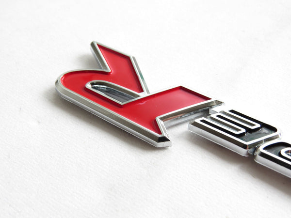 "New Black & Red ""TYPE-R"" Chrome Plastic Emblem Badge for Honda - Pinalloy Online Auto Accessories Lightweight Car Kit"