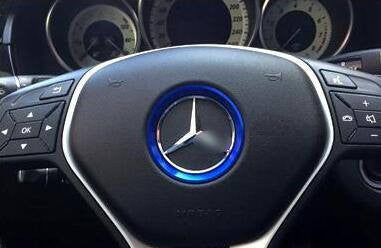 Aluminum Interior Metal Steering Wheel Ring Emblem Frame For Mercedes Benz (Blue) - Pinalloy Online Auto Accessories Lightweight Car Kit