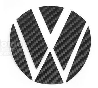 Carbon Fiber Texture Hood/ Truck/ Tail/ Groove Stickers Label for Volkswagen Golf 7 / 7 GTI