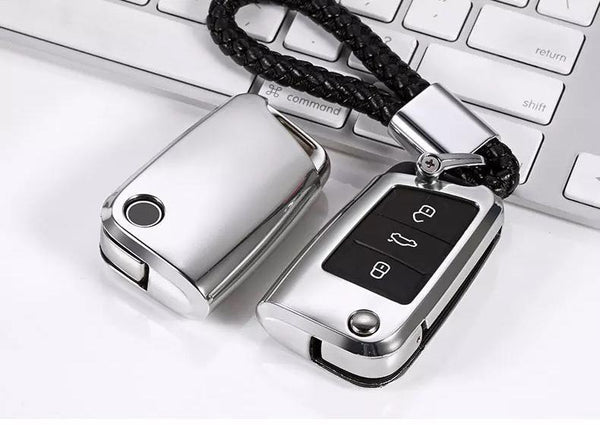 Deluxe Chrome Key Cover Case Skin Shell Fob for Volkswagen VW Golf 7 MK7 - Pinalloy Online Auto Accessories Lightweight Car Kit