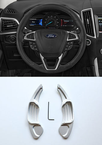 Pinalloy Silver Metal Steering Paddle Shifter Extension for Ford Lincoln 2013 - 2017
