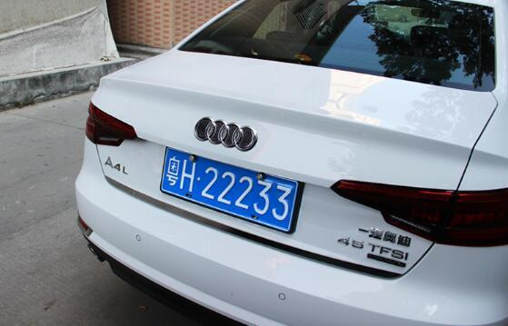 Pinalloy Plastic Tail/ Groove Stickers Label with Carbon Fiber Texture for 2012-17 Audi A6L - Pinalloy