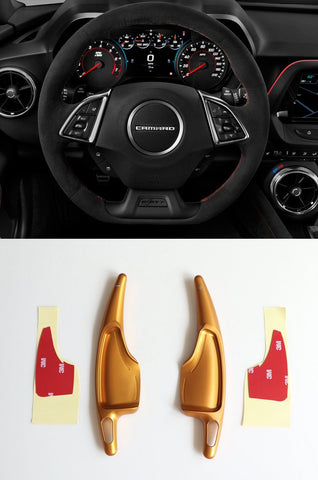 Pinalloy Gold Alloy Paddle Shifter Extension For 2016-2018 Chevrolet Camaro - Pinalloy Online Auto Accessories Lightweight Car Kit