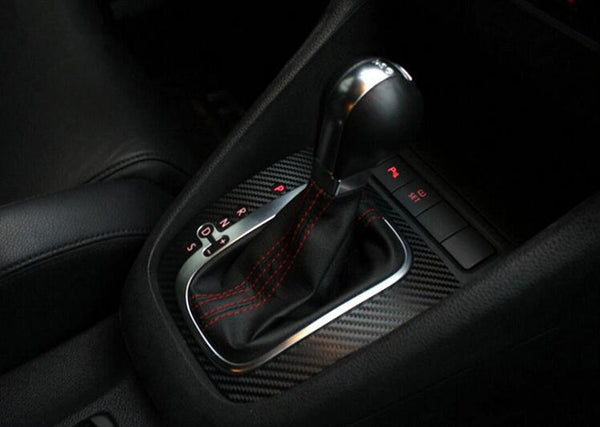 Pinalloy Carbon Fiber Gear Panel Sticker DSG Decal For Volkswagen VW Golf MK6 GTI R20 (Only fit for left hand drive)
