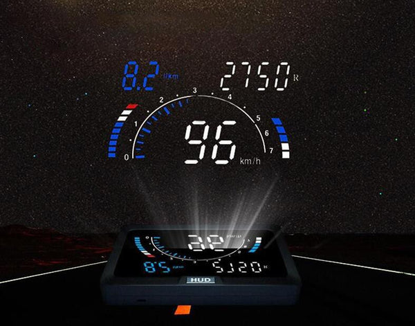 Pinalloy 4.2 inch OBD2 Plug and Display Head Up Display (HUD) Universal Model For 2007 Up Gas / Electronic / Hybrid Car Models - Pinalloy Online Auto Accessories Lightweight Car Kit