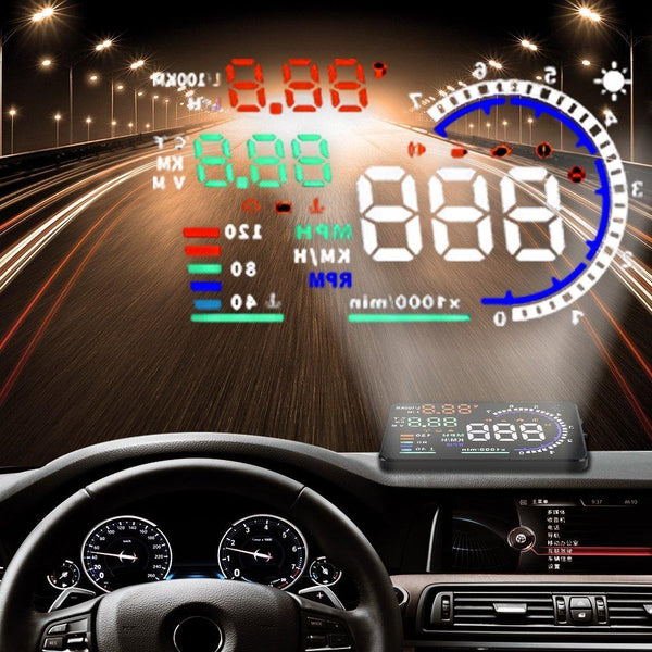 Pinalloy Universal Model 5.5'' Inch OBD II 2 Car Head Up Display (HUD ) Auto Windshield Reflective Screen Speed Display - Pinalloy Online Auto Accessories Lightweight Car Kit