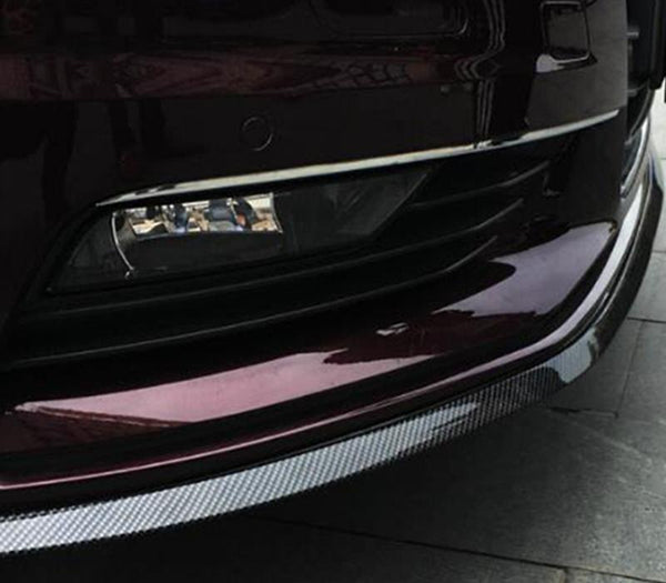 Pinalloy 68MM Wide TPVC/PU/EPDM Rubber Soft Bending with Carbon Fiber Texture Universal Front Bumper Spoiler Lip 8.2 feet (2.5 meters) - Pinalloy Online Auto Accessories Lightweight Car Kit