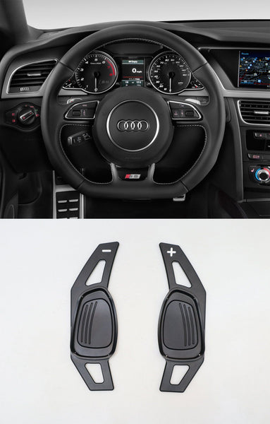 Pinalloy Black Metal Alloy Steering Paddle Shifter Extension for Audi A5 S3 S5 S6 SQ5 RS3 RS6 RS7 2014-17 - Pinalloy