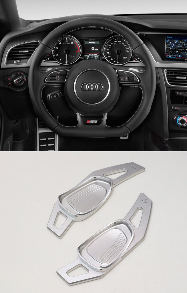 Pinalloy Silver Metal Alloy Steering Paddle Shifter Extension For Audi