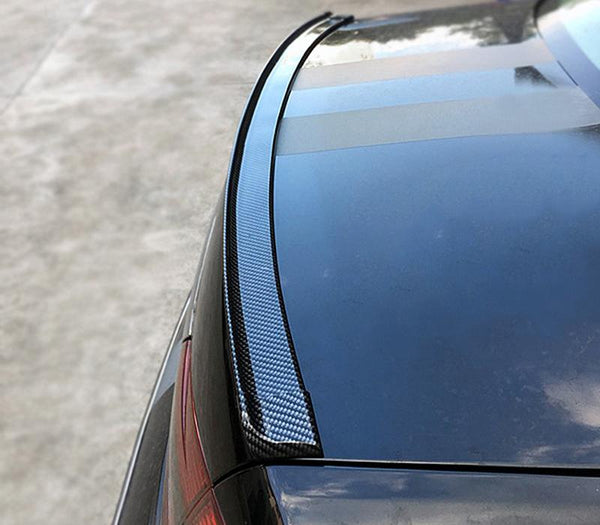 Pinalloy 4.11ft (152cm x 5cm) Universal PU Trunk Lip Spoiler or Roof Spoiler Body Kit Carbon Fiber Pattern Trim Sticker - Pinalloy Online Auto Accessories Lightweight Car Kit