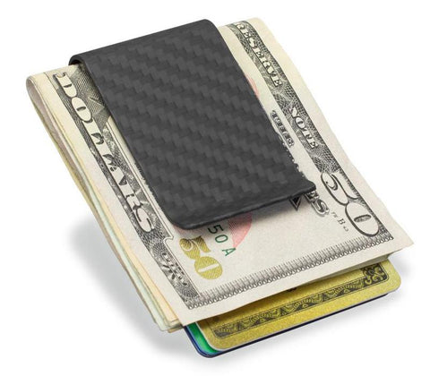 Pinalloy Real Carbon Fiber Money Bill Clip Credit Card Business Card Holder