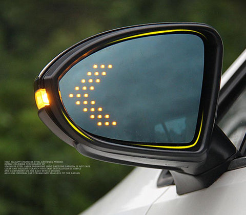 Pinalloy Universal 14-SMD LED Brilliant Yellow Turn Signal Arrows For Double View Side Mirror - Pinalloy