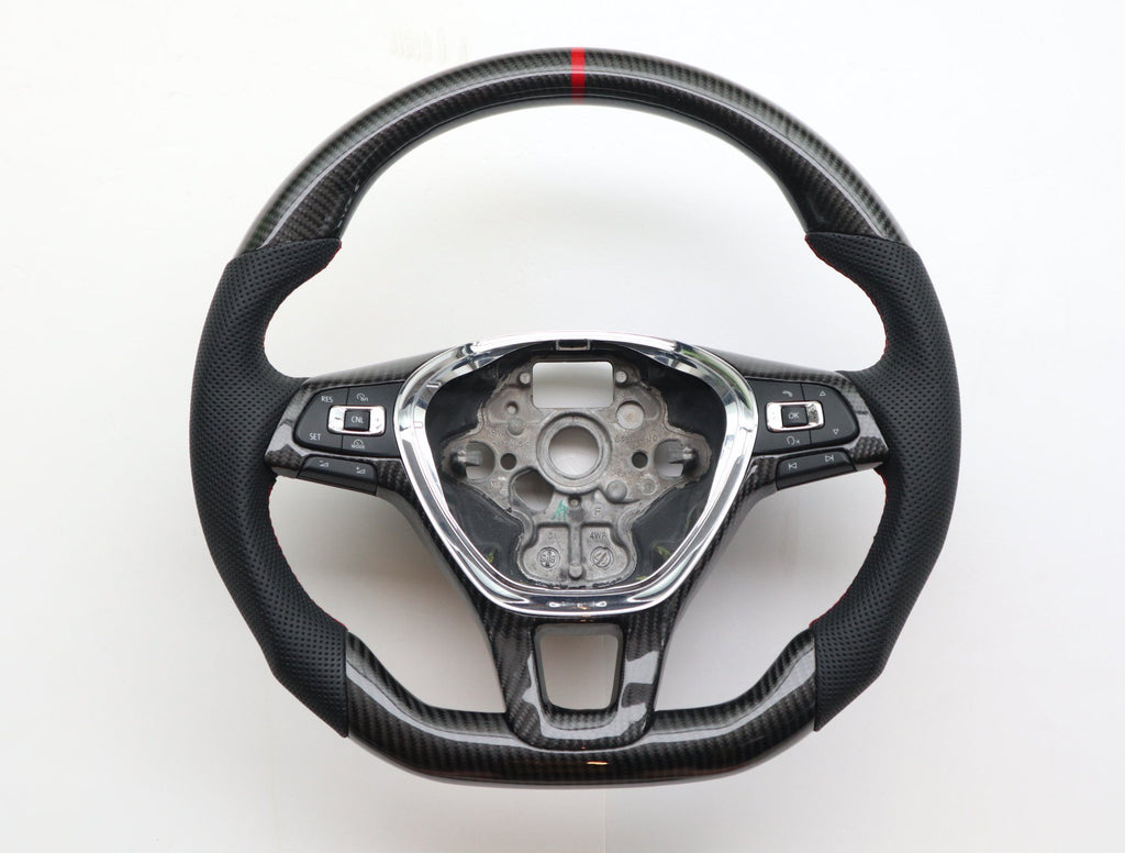 Pinalloy Carbon Fiber Sport Remanufactured Steering Wheel For Volkswagen VW MK7 - Pinalloy