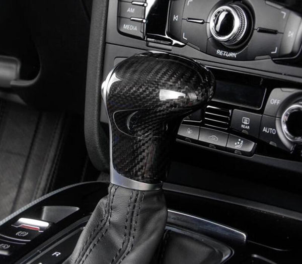 Pinalloy Carbon Fiber Gear Shift Head Cover Trim For Audi - Pinalloy Online Auto Accessories Lightweight Car Kit