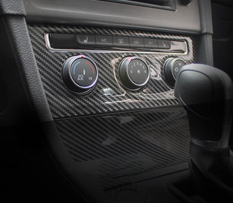 Pinalloy Carbon Fiber ABS Interior Accessories Dash Audio Frame for Volkswagen VW MK7 - Pinalloy