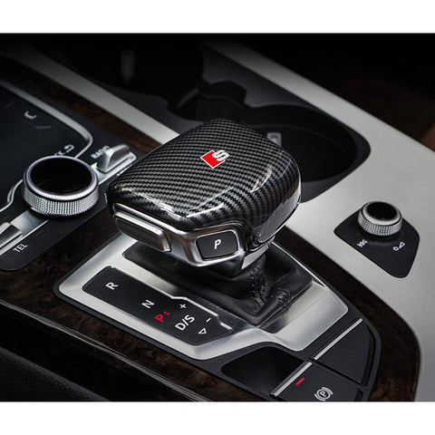 Pinalloy ABS Carbon Fiber Texture Gear Shift Head Cover For Audi A4L A5 2017-18 and Q7 2016-18