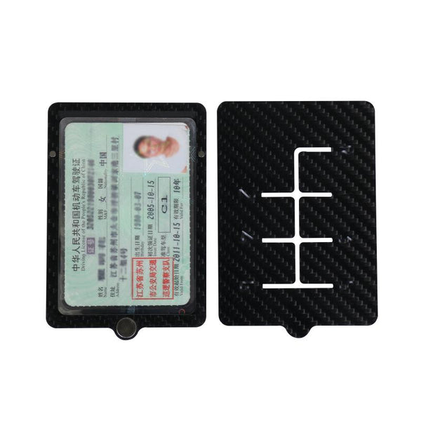 Pinalloy Magnetic Real Carbon Fiber Travel Card Car License Card Holder Case - Pinalloy Online Auto Accessories Lightweight Car Kit