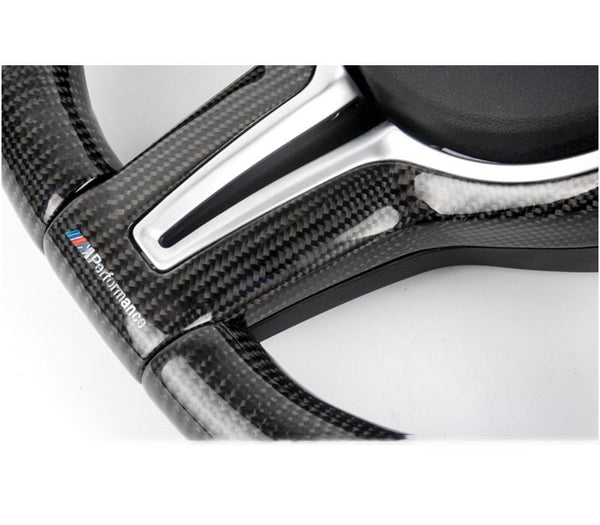 Pinalloy Carbon Fiber Steering Wheel Cover for BMW F10 F80 F82 M3 M4 - Pinalloy Online Auto Accessories Lightweight Car Kit