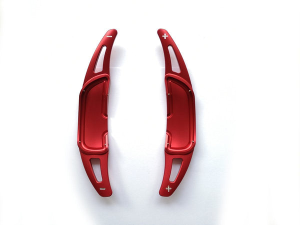Pinalloy Red Alloy Paddle Shifter Extension For Mercedes Benz AMG A45 CLA45 GLA45 C63 S63 2015-up - Pinalloy Online Auto Accessories Lightweight Car Kit