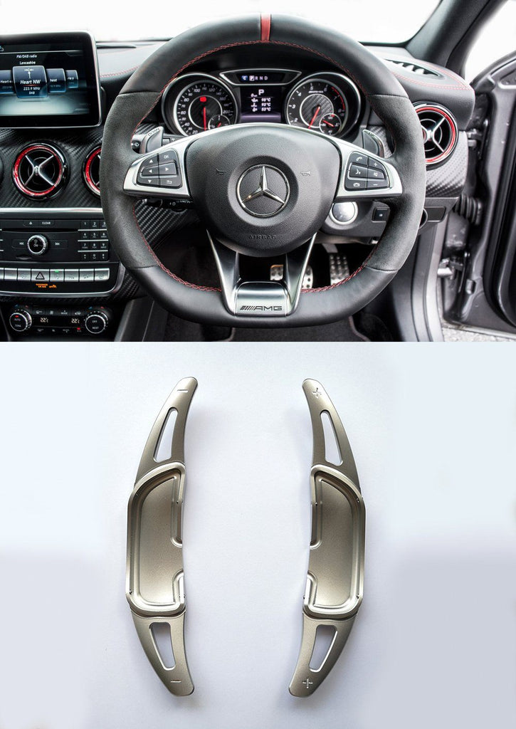 Pinalloy Silver Alloy Paddle Shifter Extension For Mercedes Benz AMG A45 CLA45 GLA45 C63 S63 2015-up - Pinalloy