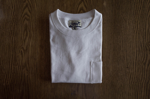 Pinalloy Classic Pocket Short Sleeve White Summer Round Neck Tee Cotton T-Shirt - Pinalloy