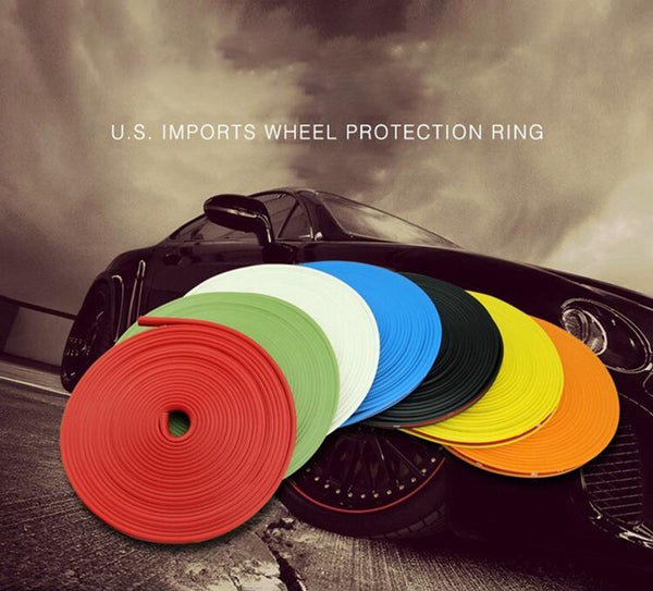 Pinalloy Universal 8 Meter (8M) TPE Made Car Wheel Trim Ring Shell Ring Wheels Rim Sticker - Pinalloy