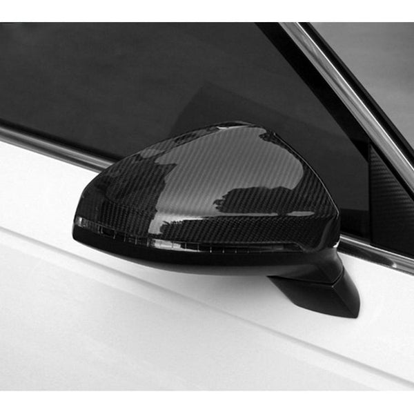 Pinalloy Real Carbon Fiber Replacement Side Mirror Cover For Audi A4 B9 2016 - 2018 (without lane change) - Pinalloy
