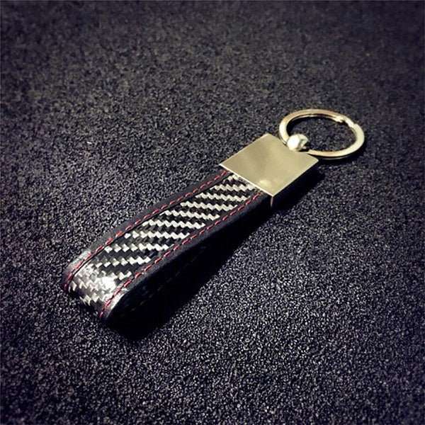 Real Carbon Fiber Key Chain Elegant Timeless Multi-ring Key Ring 3K twill - Pinalloy Online Auto Accessories Lightweight Car Kit